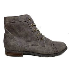 Shoes - Grey Factory Distressed Light Weight Combat Boot